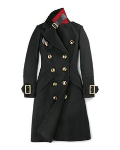 Monthorpelt Double-Breasted Wool-Blend Trench Coat