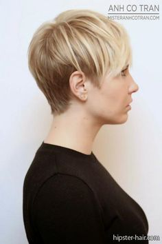 short hair, blonde, pixie cut at Hipster Hair : Hairstyle Photo Search