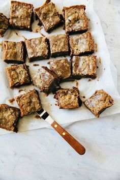 chocolate hazelnut gianduja blondies