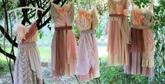pastel coloured wedding dresses - Google Search