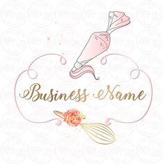 DIGITAL Custom logo design piping bag whisk logo cute pastel Baking Logo Design, Cake Logo Design, Custom Logo Design, Custom Logos, Bakery Business Cards, Business Logo, Business Card Design, Logo Cupcake, Logo Boulangerie