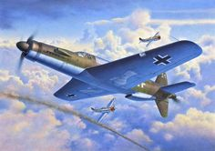 """Dornier Do 335 Pfeil"" by Egbert Friedl The Dornier Do 335 Pfeil (""Arrow"") was a World War II heavy fighter built by the Dornier company. Ww2 Aircraft, Fighter Aircraft, Military Aircraft, Luftwaffe, Air Fighter, Fighter Jets, Military Art, Military History, Dornier Do 335"