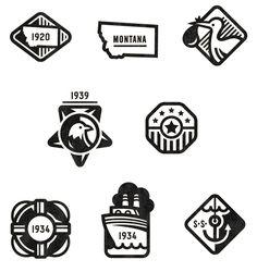 Ancestry Badges Valerie Jar / Design + Illustration in Logo Logo Sign, Typography Logo, Logos, Logo Branding, Branding Design, Brand Identity, Jar Design, Icon Design, Logo Montagne