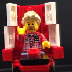 LEGO Ricky Wilson from The Kaiser Chiefs judging Emmet on The Voice. Is he going to press the red button?  www.warnerbros.co.uk/movies/the-lego-movie  The LEGO Movie