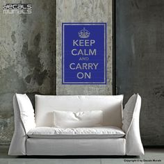 Wall decals KEEP CALM and CARRY On Quote vinyl by decalsmurals