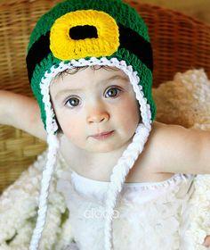 Crochet Leprechaun Earflap Beanie Hat PATTERN