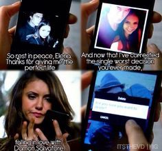 TVD 5x13. Real life selfies in the show...so weird!