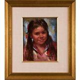 Arlene Hooker Fay - Indian Girl, Oil on canvas