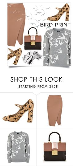 """""""like a homing bird I'll fly"""" by collagette ❤ liked on Polyvore featuring Miu Miu, McQ by Alexander McQueen, MayraFedane and Bobbi Brown Cosmetics"""
