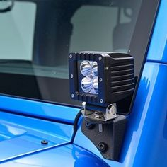 E-Autogrilles Jeep JK LED Light Windshield Corner Mount