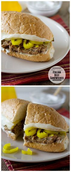 Slow Cooker Italian Beef Sandwiches with Ranch Horseradish Sauce from Taste and Tell sound like a perfect summer dinner from the slow cooker, but this would also be great for football-watching food!  [featured on SlowCookerFromScr...]