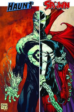 Spawn Haunt split by Todd McFarlane This is so badass Spawn Characters, Comic Book Characters, Comic Character, Comic Books Art, Spawn Comics, Dc Comics, Dc Anime, Anime Comics, Anime Toon
