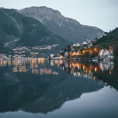 Blue hour in Odda, Norway