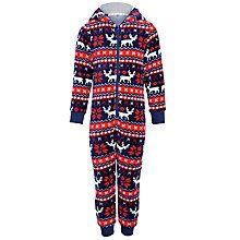 Buy John Lewis Boy Reindeer Fair Isle Onesie, Navy/Red from our Boyswear Offers range at John Lewis & Partners. Boys Pajamas, Christmas Pajamas, Pajama Shorts, John Lewis, Nightwear, Reindeer, Snug, Onesies, Dressing
