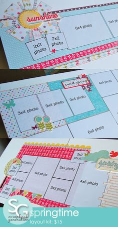 SCRAPBOOK GENERATION: Ten new page kits, all $15 or less!