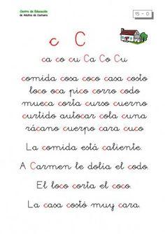 METODO DE LECTOESCRITURA LETRA CA-CO-CU Spanish Sentences, Teaching Spanish, Spanish Language, First Grade, Activities For Kids, Kindergarten, Leo, Journal, Teacher