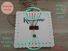 Tutorial_pulsera_Kumihimo_plana_colocacion_inicial