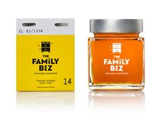 The family beez, honey of limited production | mousegraphics #packaging #honey