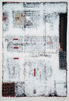 D-6.Apr.2001 mixed media painting / paper making  HAYASHI Takahiko 林孝彦