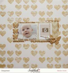 Lenchens bunte Seite: *Love you much* - November Kit der Scrapbook Werkstatt