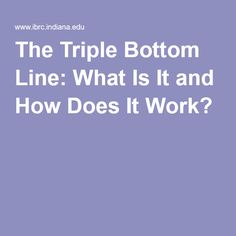 Anna Butler This article describes the Triple Bottom Line and its importance to many businesses today. It also describes how the TBL can be difficult to measure because of the sustainability and social parts of it. Measuring these to compare across industries can be almost impossible. There is no universally accepted way to measure the TBL but this article suggests factors that should be included when determining the TBL in an index.