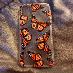 Orange Butterfly, Cute Butterfly, Pretty Iphone Cases, Cute Phone Cases, My Art Studio, Airpod Case, Phone Cover, Iphone 11, Phone Accessories