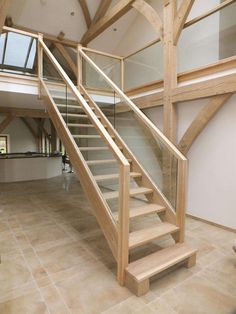 Inventive Staircase Design Tips for the Home – Voyage Afield Timber Staircase, House Staircase, Open Staircase, Staircases, Barn Conversion Kitchen, Barn Conversion Interiors, Barn Conversion Bedroom, Barn Conversions, Home Stairs Design