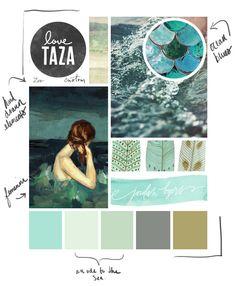 Mood Board - Design Board - Ocean Hues