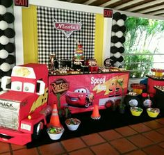 Caminhao Mack Race Car Birthday 2nd Parties Pixar Cars Themed