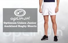 Shop Optimum Unisex Junior Auckland Rugby Shorts - White, Free delivery and returns on all eligible orders. Rugby Shorts, Sport Shorts, Auckland, Unisex, Sports, Life, Men, Products, Hs Sports