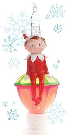 vickie jo anns favorites elf on the shelf bubble nightlight christmas jingles