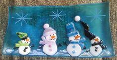 long snowman plate- 40$