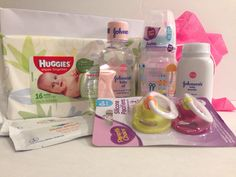 A personal favorite from my Etsy shop https://www.etsy.com/listing/266068087/baby-shower-baby-kit-baby-survial-kit