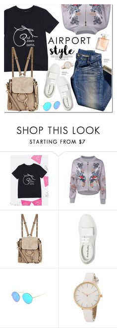 """Airport Style"" by oshint ❤ liked on Polyvore featuring Uniqlo, Chloé and Acne Studios"