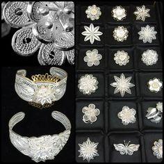 Filigree Jewelery Filigree Jewelry, Silver Filigree, Silver Jewelry, Handicraft, Quilling, Origami, Jewerly, Pearl Necklace, Jewelry Making