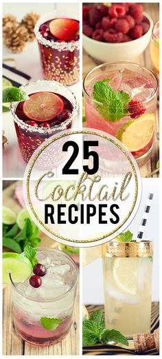 Have a party coming up, or just looking for a drink to unwind with? Try one of these 25 Cocktail Recipes tonight; get your drink on!