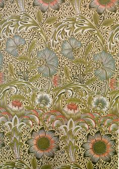 William Morris. William Morris Wallpaper, Morris Wallpapers, Victorian Fabric, Victorian Art, Textiles, Textile Patterns, Fabric Wallpaper, Of Wallpaper, Mary Morris