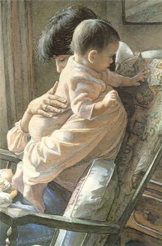 The perfect Titus 2 Woman is. not the supermom you see on the cover of mom magazines doing it all. She's the one who learns to cherish the moments Watercolor Artists, Watercolor Paintings, Watercolors, Titus 2 Woman, Mothers Love, Mother And Child, American Artists, Artist At Work, Love Art