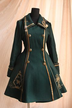 Pin on ロリータファッション Old Fashion Dresses, Fashion Outfits, Dress Fashion, Mode Lolita, Lolita Style, Mode Costume, Steampunk Clothing, Steampunk Coat, Steampunk Glasses