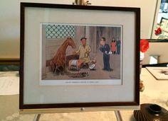 Humor Art H.M Bateman Livestock Underwriter Inspecting by USANOW