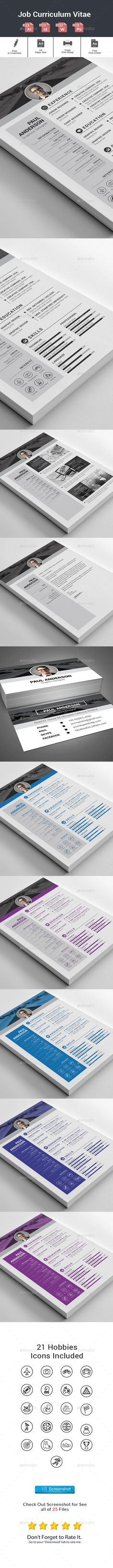 Resume - Resumes Stationery Download here https\/\/graphicriver - net resume