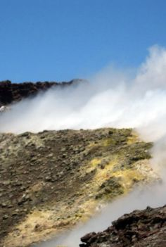 The crater on Mt. Etna, Sicily, feels like your on top of the world. The mountain offers an amazing view and seemingly reaches up to the sky.