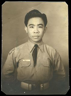 Francisco Panis in the ROTC before being recruited into the Philippine Commonwealth Army. He was 20 years old. Francisco Panis was called to active duty by the Philippine Army shortly before the Japanese attacked in December 1941. He served honorably with his unit, the 23rd Infantry Regiment, as the American and Filipino forces fell back to Bataan Peninsula and held out for four months. Philippine Army, Bataan Death March, War Medals, Ww2 Uniforms, Rotc, Prisoners Of War, 20 Years Old, Commonwealth, Military History