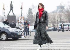 Maria Duenas Jacobs at Paris fashion week | Photographed by Ashka Shen | Xssat Street Fashion