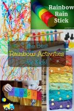 A huge roundup of the best rainbow activities for kids, from sensory rainbow activities to crafty rainbow activities, you'll find something here!