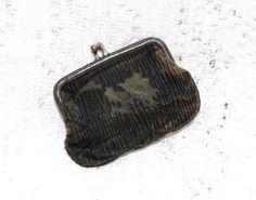 Antique Tiny Leather Coin Purse ~ SOLD