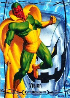 Vision (Marvel Masterpieces by Joe Jusko Vision Marvel Comics, Vision Avengers, Marvel Comic Universe, Marvel Heroes, Marvel Avengers, Comic Book Artists, Comic Book Characters, Marvel Characters, Comic Character
