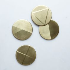 Brass Coasters https://food52.com/provisions/products/1167-brass-coasters?utm_source=Sailthru&utm_medium=email&utm_term=Provisions%20Email%20Sends&utm_campaign=09192014_Provisions_FallDinnerParty