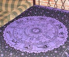 HippieIndian TapestryWallBedspreadTablecloth Purple Zodiac 72x 108 TP22PL *** For more information, visit image link.
