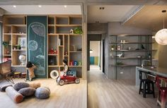 Outer Space for Kids: A Place for Kids to Have Fun in Japanese Style Space with Simple Interior Design Simple Interior, Home Interior, Interior Design, Design Art, Relax House, Living Area, Living Spaces, Tatami, Metal Building Homes